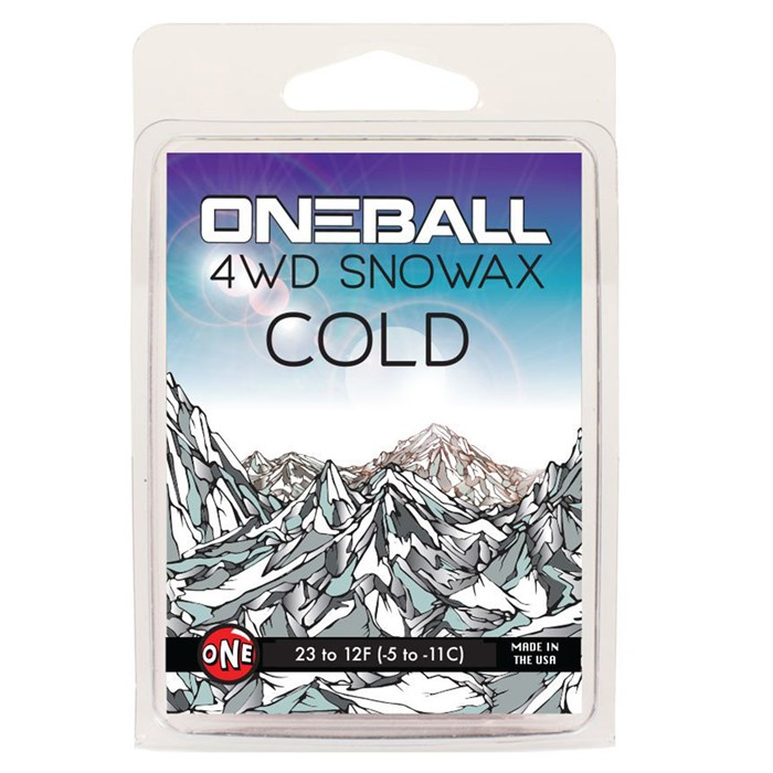 OneBall - 4WD Cold Snowboard Wax - (23° to 12°F)