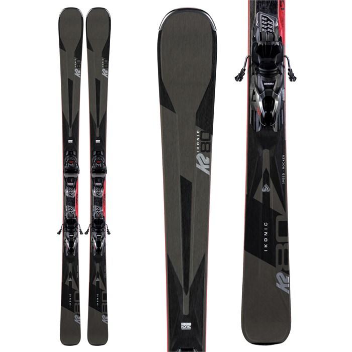 K2 - Ikonic 80 Skis + M3 10 Compact Quikclik Bindings 2020