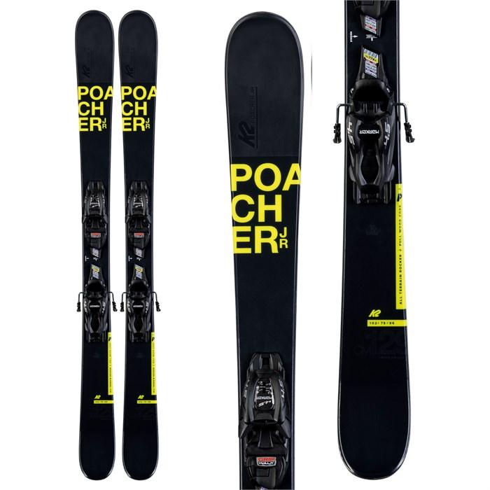K2 - Poacher Jr Skis + 4.5 FDT Bindings - Little Boys' 2020