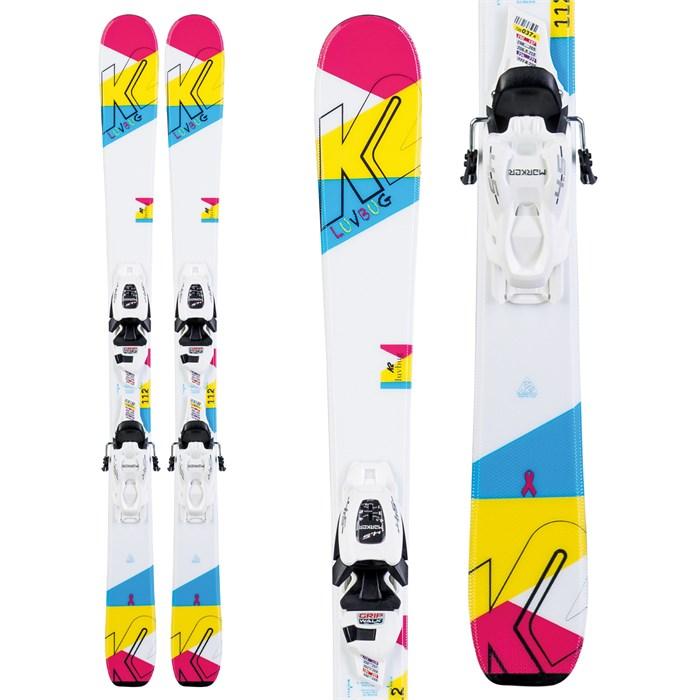 K2 - Luv Bug Skis + FDT 7.0 Bindings - Little Girls' 2020
