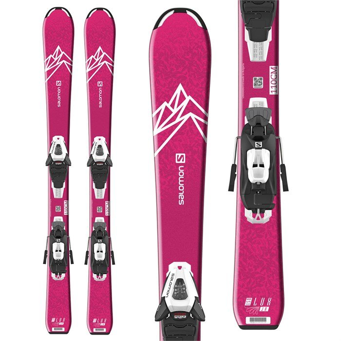 Salomon - QST Lux Jr S Skis + C5 GW Bindings - Little Girls' 2021