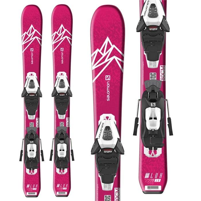 Salomon - QST Lux Jr XS Skis + C5 GW Bindings - Little Girls' 2021
