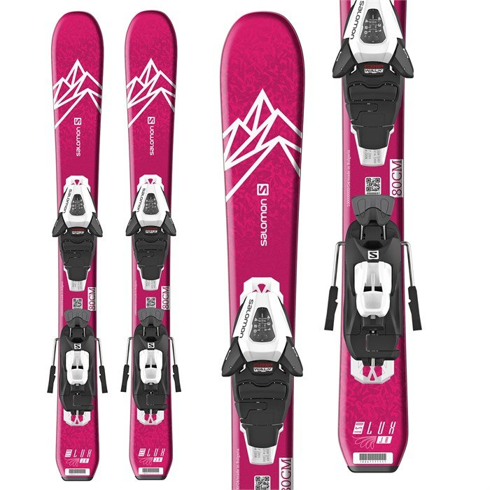 Salomon - QST Lux Jr XS Skis + C5 GW Bindings - Little Girls' 2020