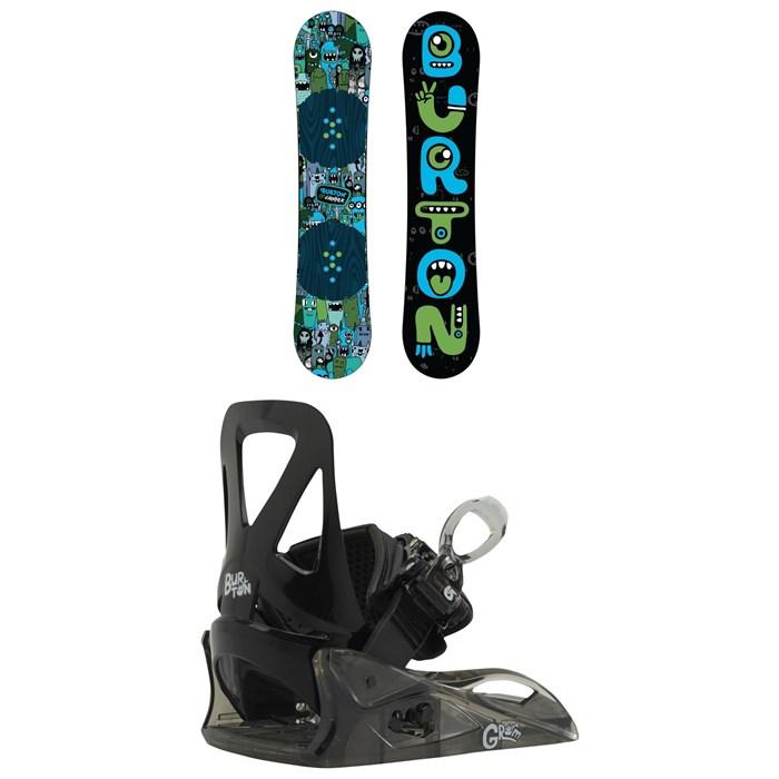 Burton - Chopper Snowboard + Burton Grom Snowboard Bindings - Little Kids' 2020