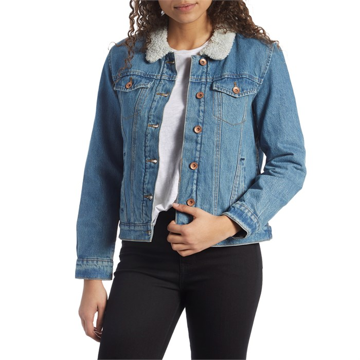 Brixton - Broadway Sherpa Denim Jacket - Women's