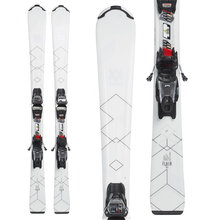Volkl - Flair 8.0 Skis + FDT 10.0 TP Bindings - Women's 2017 - Used
