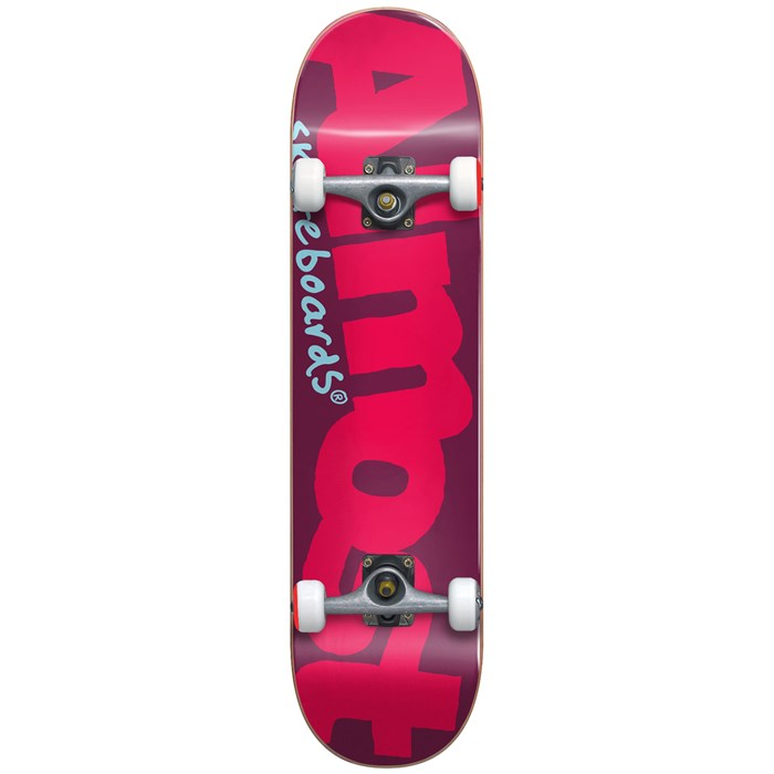 Almost - Color Logo Youth Premium Red 7.375 Skateboard Complete - Big Kids'