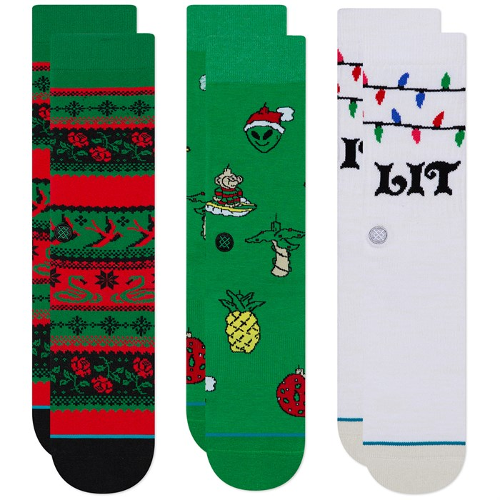 Stance - Ornaments 3-Pack Crew Socks