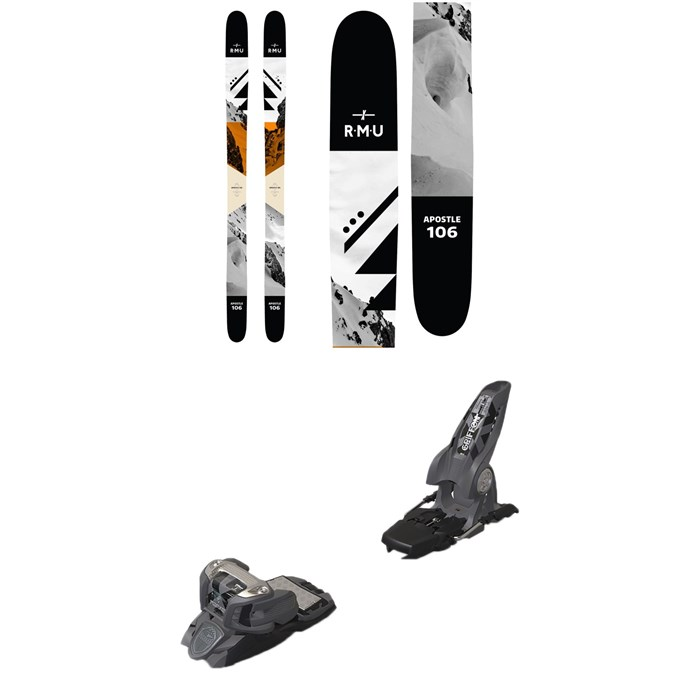 RMU - Apostle 106 Metal Skis 2019 + Marker Griffon Ski Bindings 2016