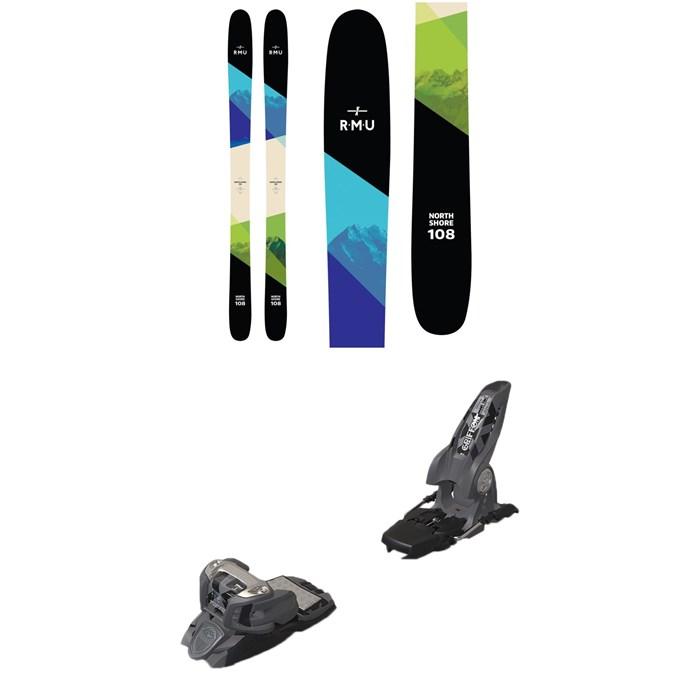 RMU - North Shore 108 Wood Skis 2019 + Marker Griffon Ski Bindings 2016