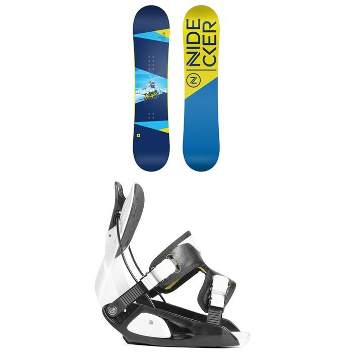 Nidecker - Micron Magic Snowboard + Flow Micron Snowboard Bindings - Little Kids' 2019
