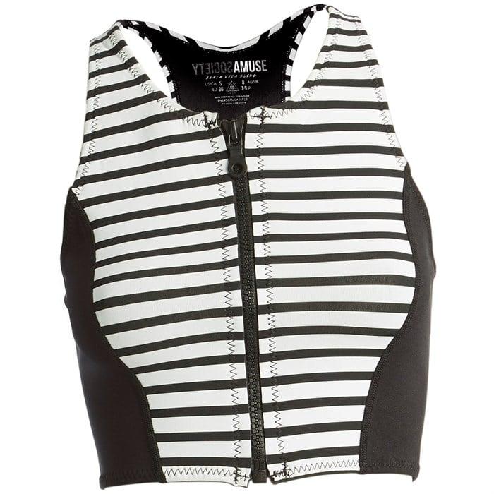 Amuse Society - Laka Striped Cropped Neoprene Vest - Women's