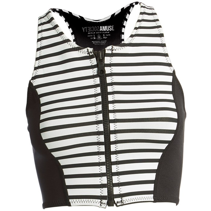 Amuse Society - Laka Striped Cropped Neoprene Vest - Women's