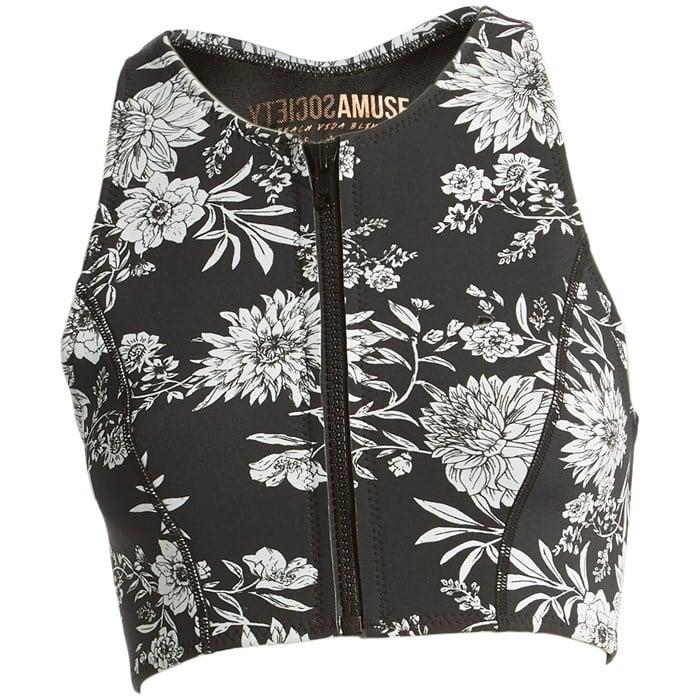 Amuse Society - Laka Floral Cropped Neoprene Vest - Women's