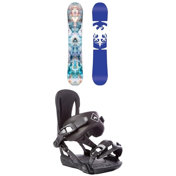 Never Summer - Infinity Snowboard - Women's 2019 + Rome Strut Snowboard Bindings - Women's 2018
