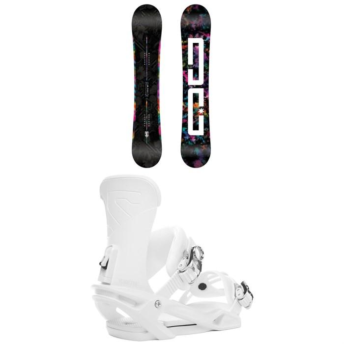 DC - Biddy Snowboard - Women's + Salomon Vendetta Snowboard Bindings - Women's 2019