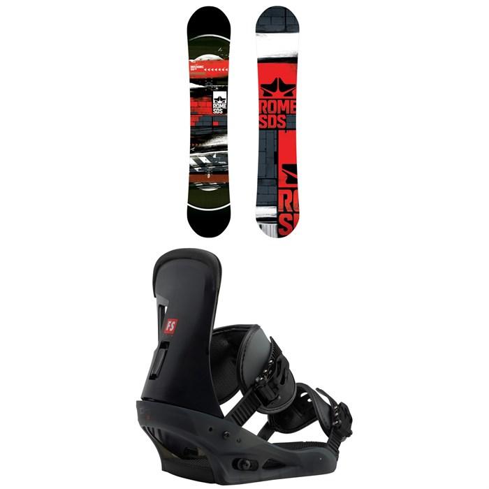 Rome - Mechanic Snowboard 2018 + Burton Freestyle Snowboard Bindings 2019