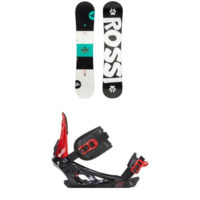 Rossignol - Alias Snowboard - Kids' + K2 Vandal Snowboard Bindings - Big Boys' 2019