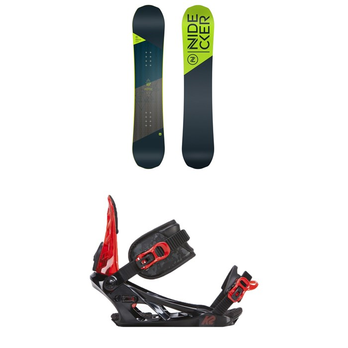 Nidecker - Prosper Snowboard - Big Kids' + K2 Vandal Snowboard Bindings - Big Boys' 2019