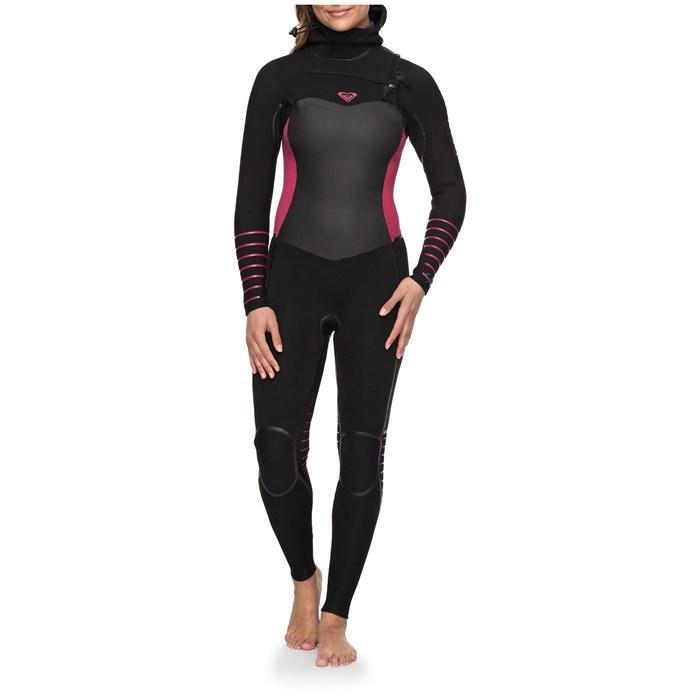 Roxy - 5/4/3 Syncro+ Chest Zip Hooded Wetsuit - Women's