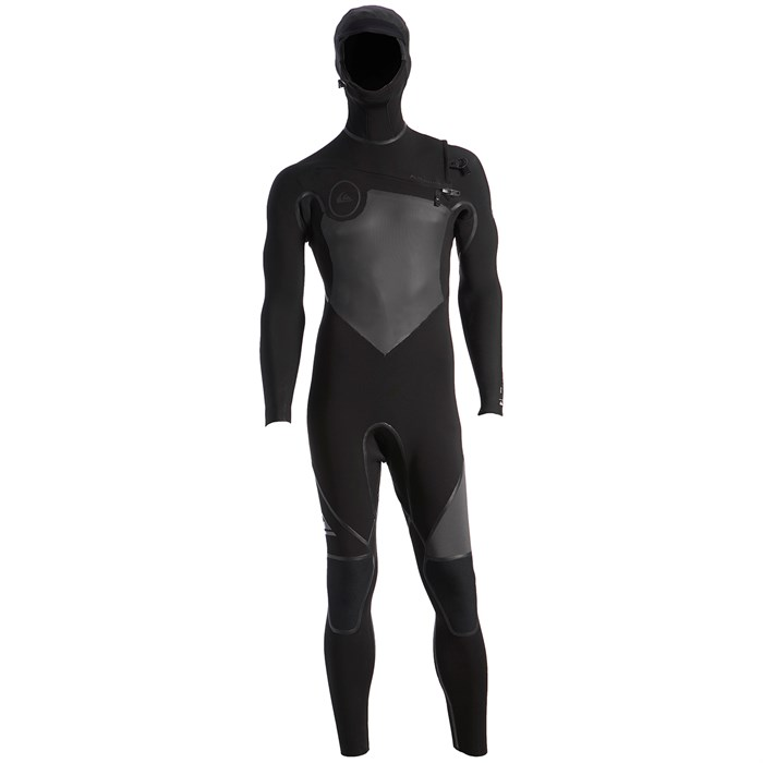 Quiksilver - 4/3 Syncro+ Chest Zip Hooded Wetsuit