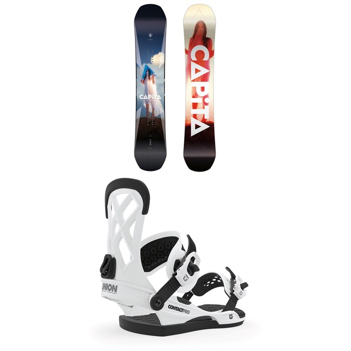 CAPiTA - Defenders of Awesome Snowboard + Union Contact Pro Snowboard Bindings 2020