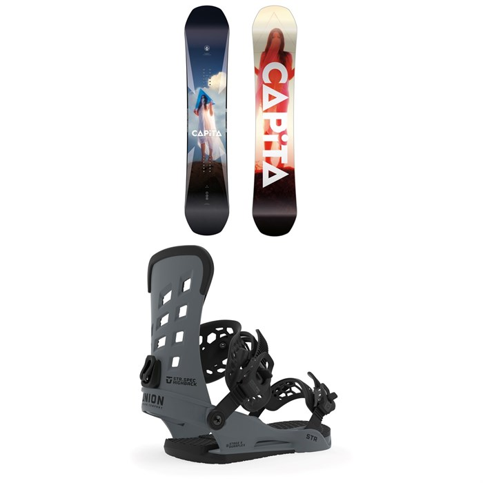 CAPiTA - Defenders of Awesome Snowboard + Union STR Snowboard Bindings 2020