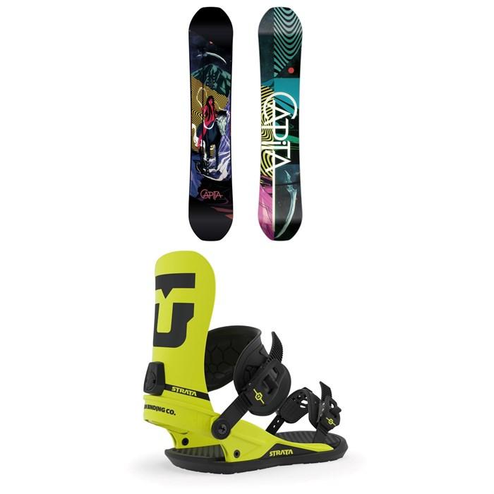 CAPiTA - Indoor Survival Snowboard + Union Strata Snowboard Bindings 2020