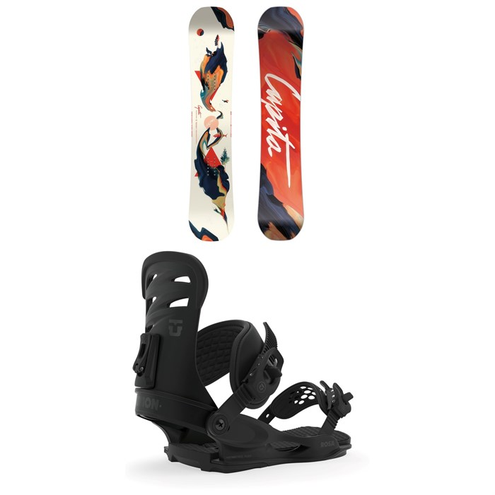 CAPiTA - Space Metal Fantasy Snowboard - Women's + Union Rosa Snowboard Bindings - Women's 2020