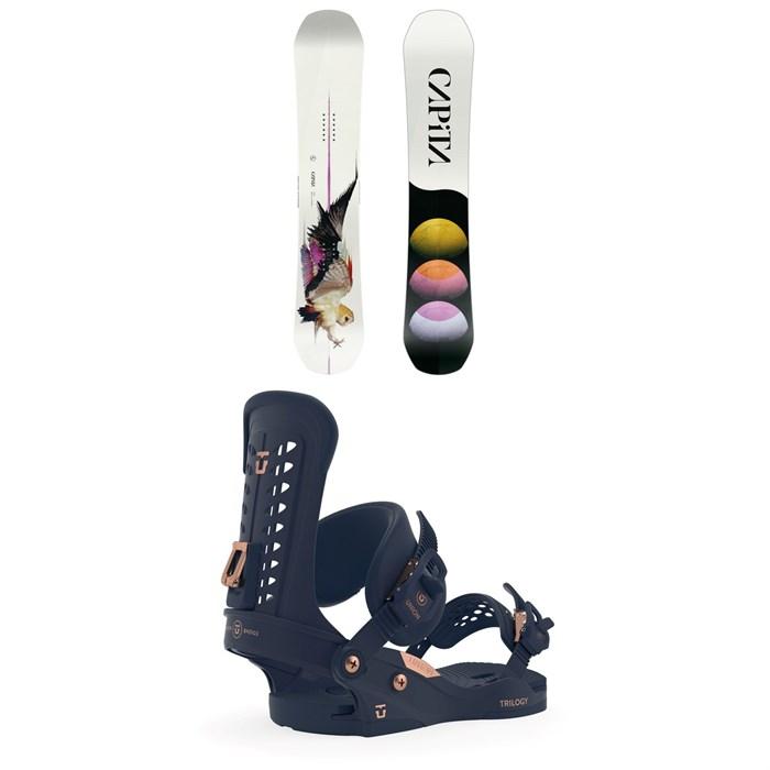 CAPiTA - Birds of a Feather Snowboard - Women's + Union Trilogy Snowboard Bindings - Women's 2020