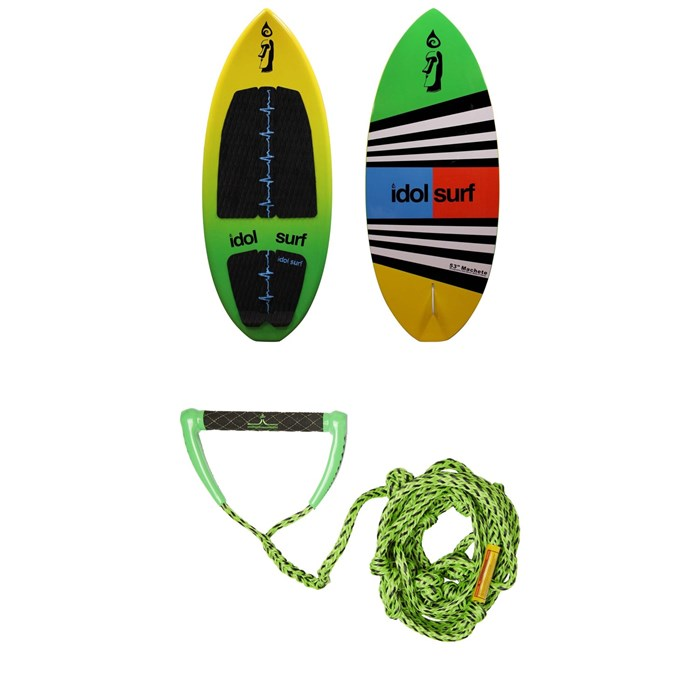 Idol Surf - Machete Skim Wakesurf Board 2019 + Free evo Surf Rope
