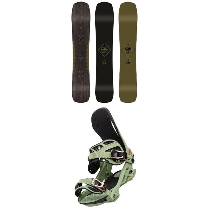 Arbor - Crosscut Camber Snowboard + Arbor Cypress Snowboard Bindings 2020