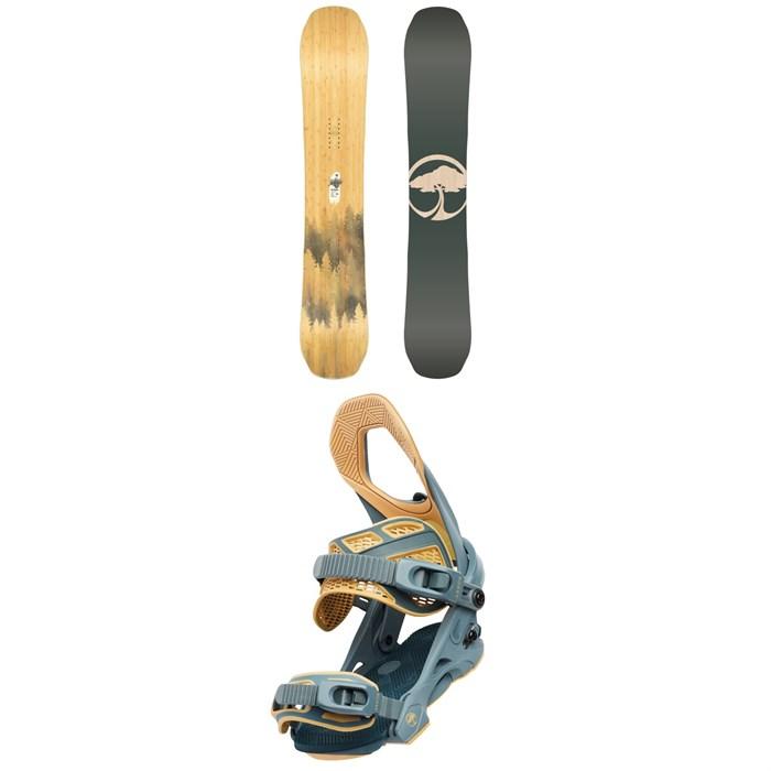 Arbor - Swoon Rocker Snowboard - Women's + Arbor Sequoia Snowboard Bindings - Women's 2020