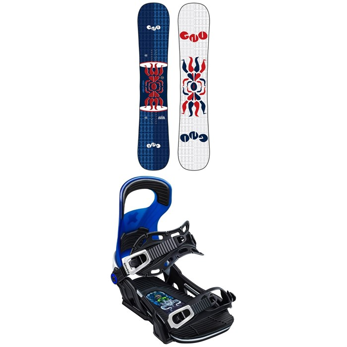 GNU - FB Head Space Asym C3 Snowboard + Bent Metal Logic Snowboard Bindings 2020