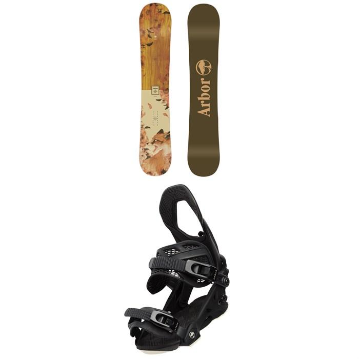 Arbor - Cadence Camber Snowboard - Women's + Arbor Sequoia Snowboard Bindings - Women's 2020