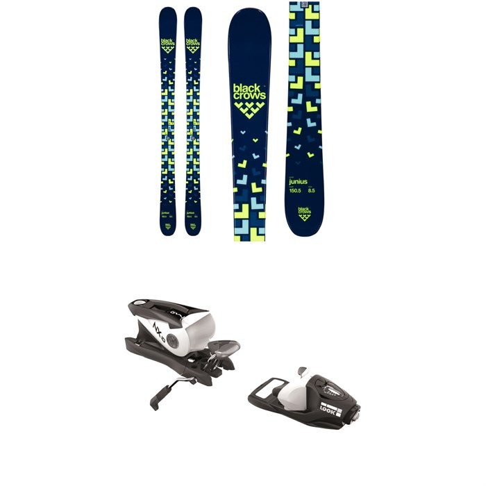 Black Crows - Junius Skis - Big Boys' + Look NX 10 Ski Bindings 2020