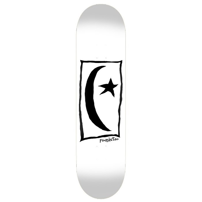 Foundation - Star & Moon Square White 8.5 Skateboard Deck