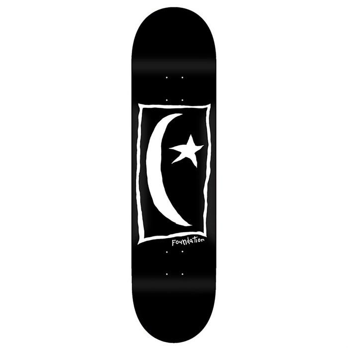 Foundation - Star & Moon Square Black 8.25 Skateboard Deck