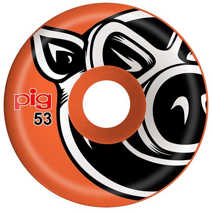 Pig - Pig Head Conical Orange 101A Skateboard Wheels