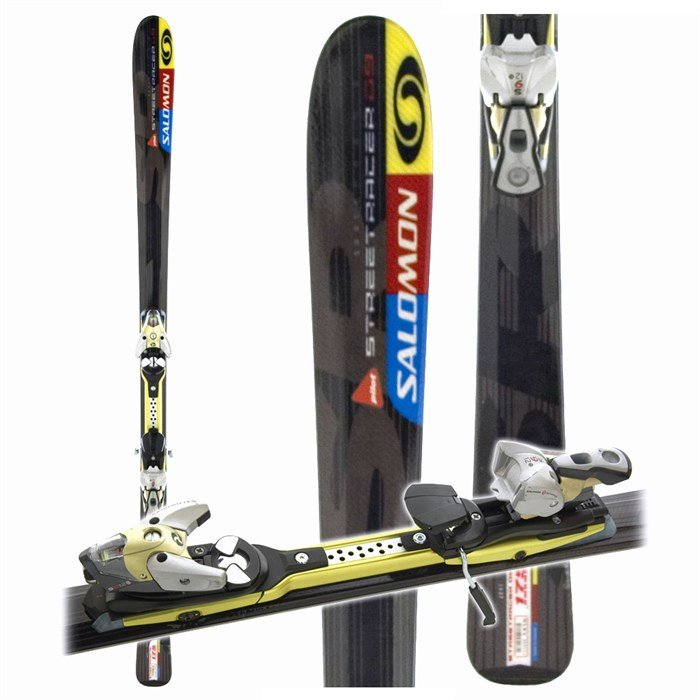 Salomon Streetracer 9 Skis + Salomon Bindings 2005