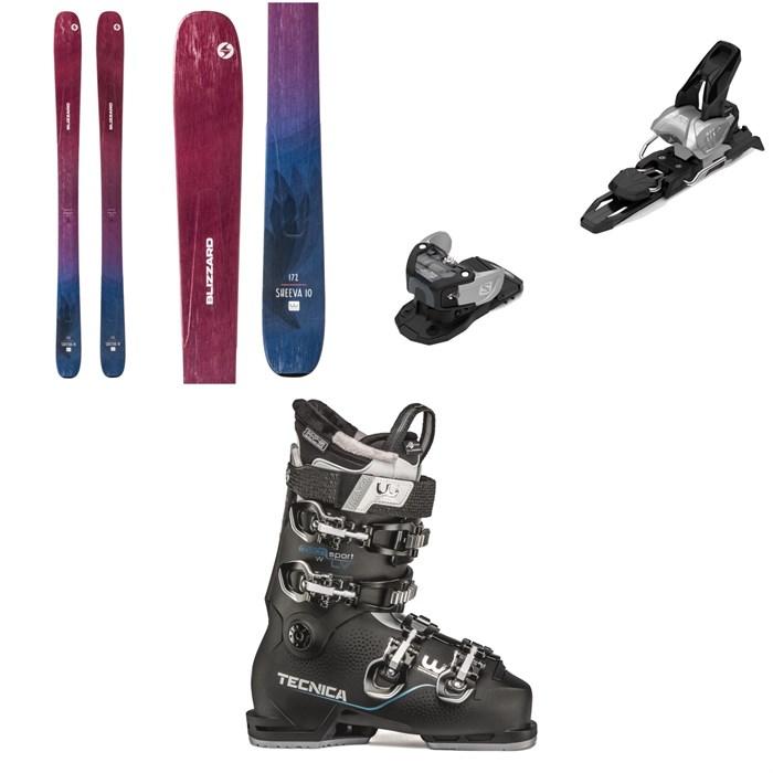 Blizzard - Sheeva 10 Skis - Women's + Salomon Warden MNC 11 Ski Bindings + Tecnica Mach Sport LV 85 W Ski Boots - Women's 2020