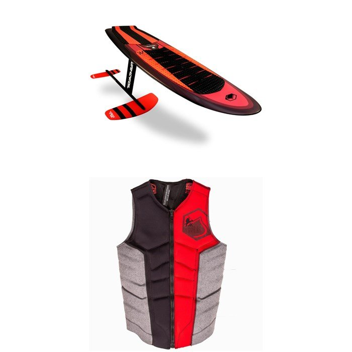WAKEFOIL - SS AK Complete Wakefoil Package +  AK Surf Ghost Comp Wake Vest 2019