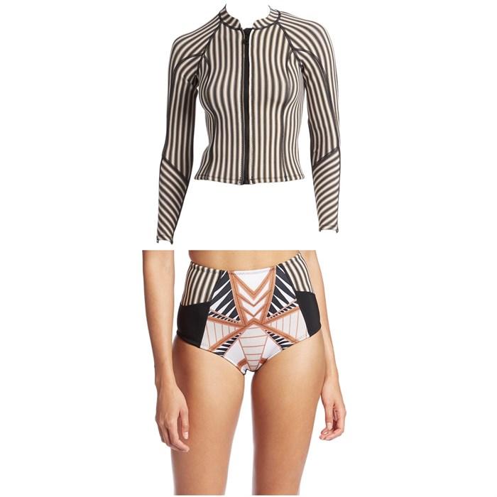 Amuse Society - Oceanna Neoprene Jacket - Women's + Amuse Society St. Tropez High-Wasited Wetsuit Bottoms - Women's