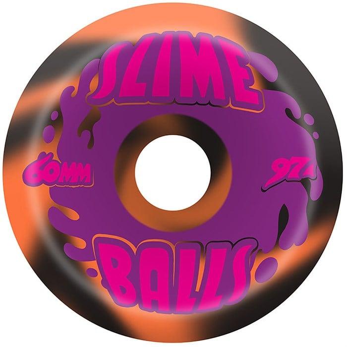 Santa Cruz - Slime Balls 97a Splat Black Orange Swirl Skateboard Wheels