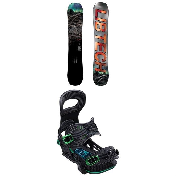 Lib Tech - Box Knife C3 Snowboard + Bent Metal Transfer Snowboard Bindings 2020
