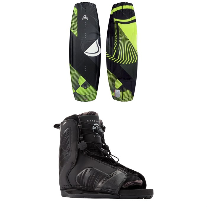 Liquid Force - Classic Wakeboard + Hyperlite Remix Wakeboard Bindings