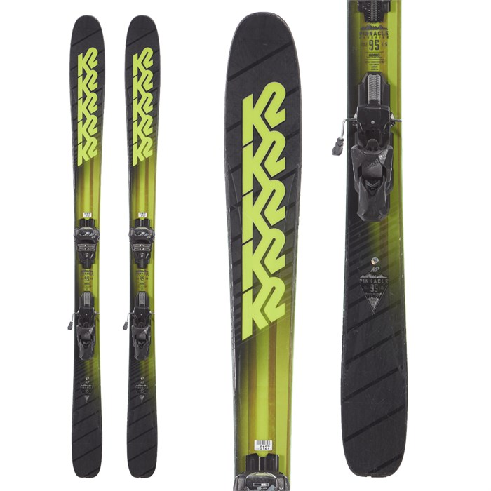 K2 - Pinnacle 95 skis + Tyrolia Attack² 13 AT Demo Bindings 2018 - Used