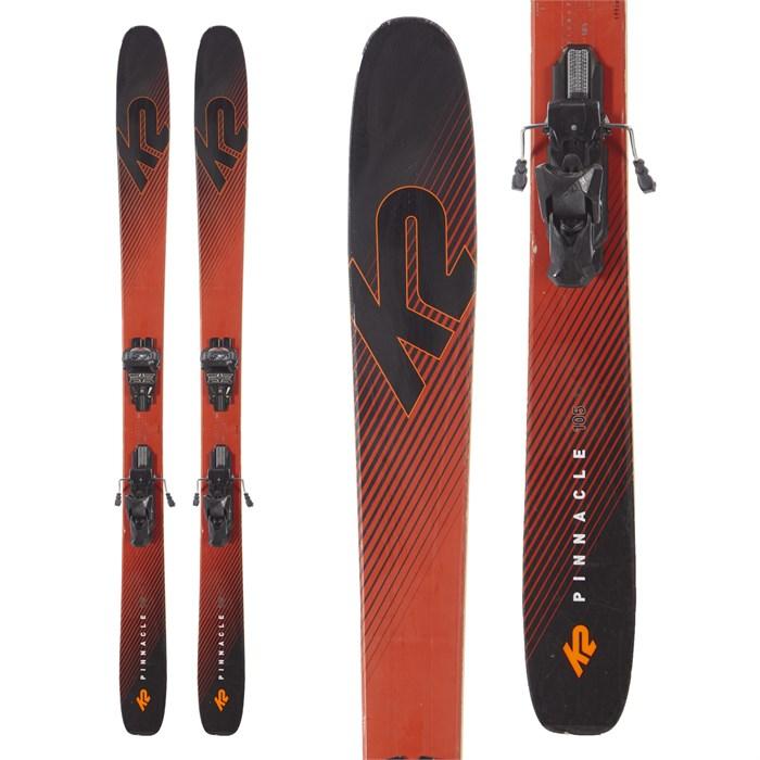 K2 - Pinnacle 105 Ti Skis + Tyrolia Attack² 13 AT Demo Bindings 2019 - Used