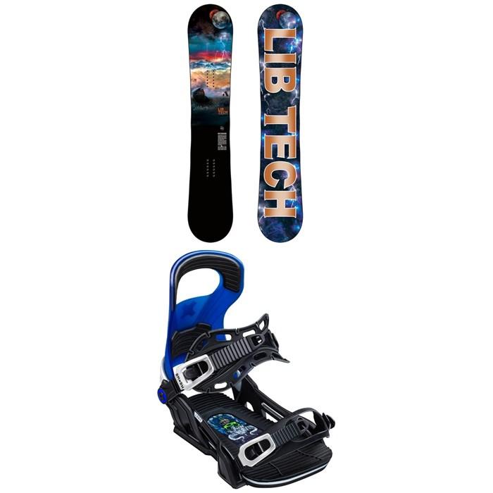 Lib Tech - Box Scratcher BTX Snowboard + Bent Metal Logic Snowboard Bindings 2020