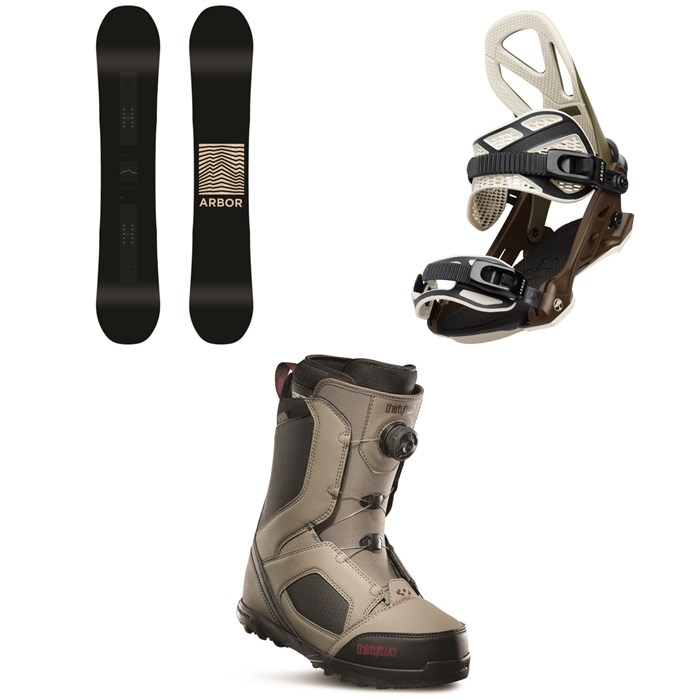 Arbor - Formula Rocker Snowboard + Arbor Hemlock Snowboard Bindings + thirtytwo STW Boa Snowboard Boots 2020